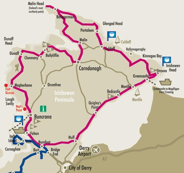 Inishowen 100 Route